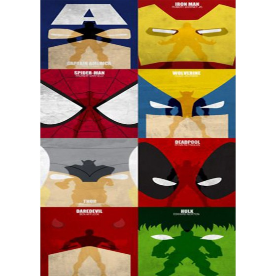 Quadro Decorativo Super Herois